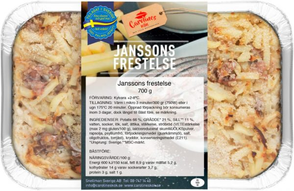 Janssons frestelse 700 g front_webb